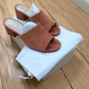 RAYE Peach Cara sandals w/ box & dust bag - 8.5